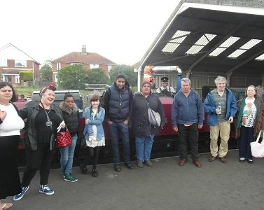 The Boundaries group at New Romney station