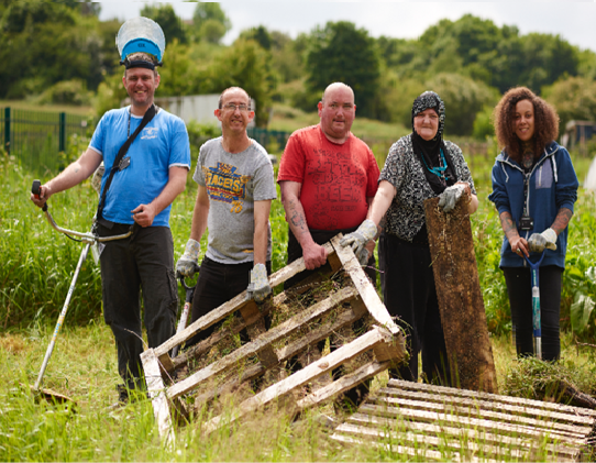 Grow and Cook - Clearing an allotment space in Huddersfield