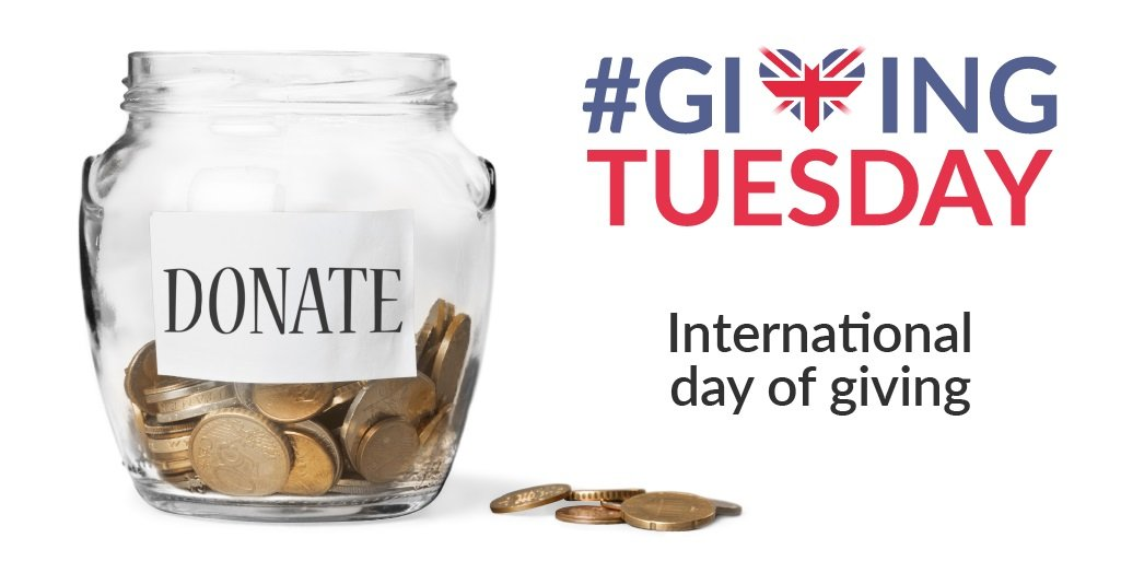 Giving Tuesday: First Tuesday of December each year international day of giving