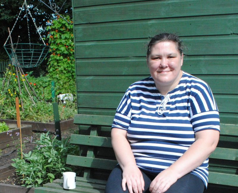 Therapeutic gardener Ruth Nicholls provides proof positive of the benefits of gardening at large homelessness scheme The Victoria Project in Cambridge
