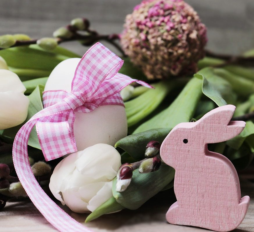 Easter egg flower bunny rabbit arrangement